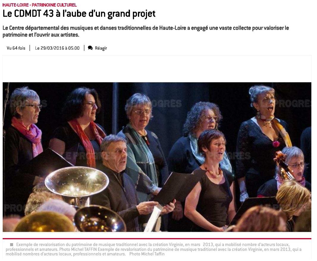 2016.03.29 Sortir Haute-Loire _ Le CDMDT 43 à l'aube d'un grand projet 1