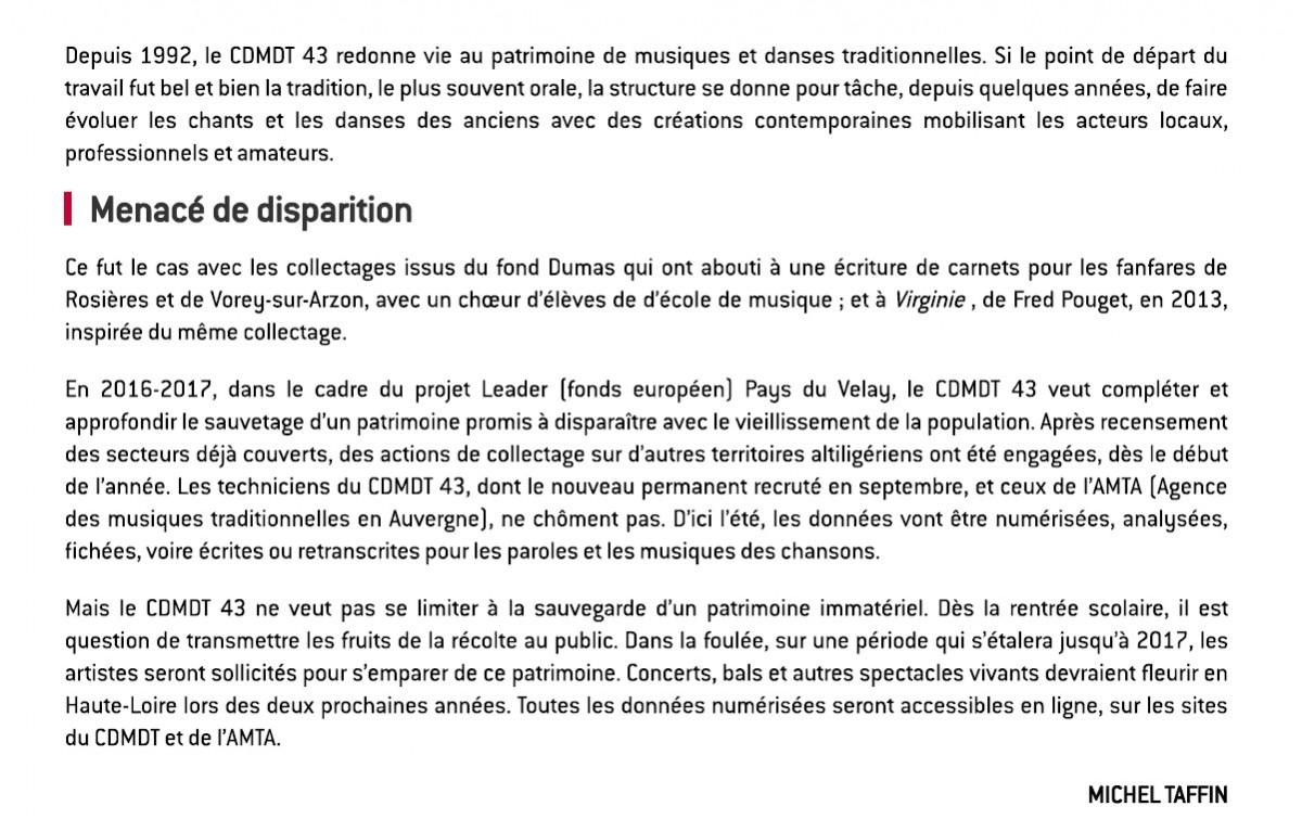 2016.03.29 Sortir Haute-Loire _ Le CDMDT 43 à l'aube d'un grand projet 2