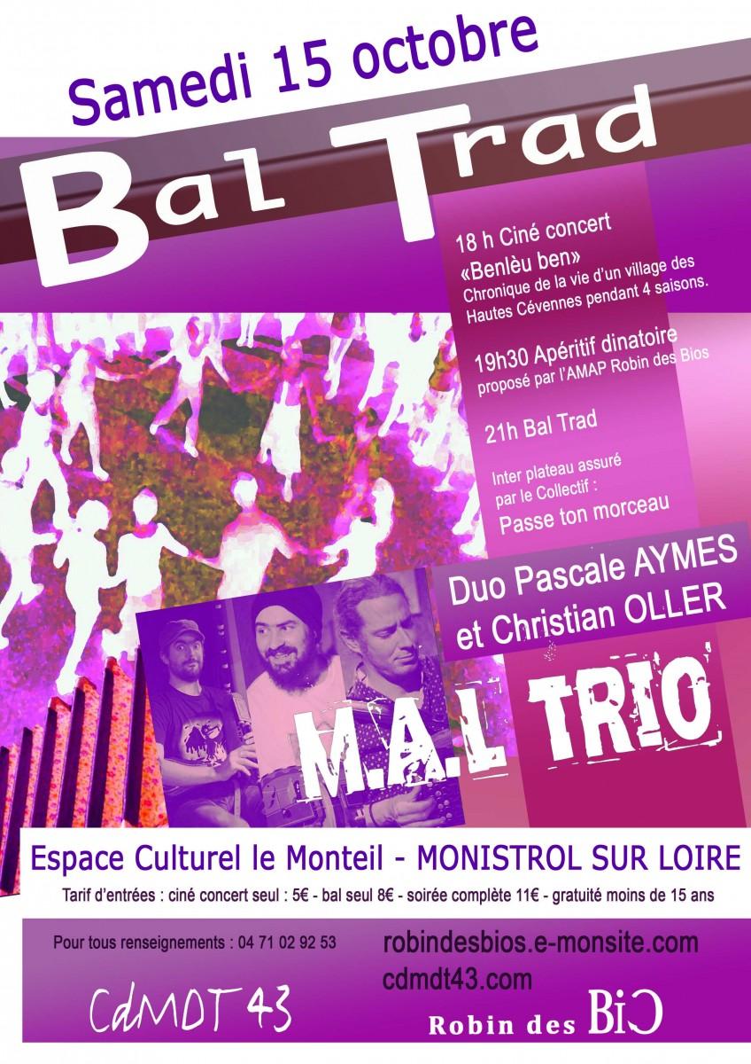 15/10 – Ciné-concert et bal traditionnel à Monistrol-sur-Loire