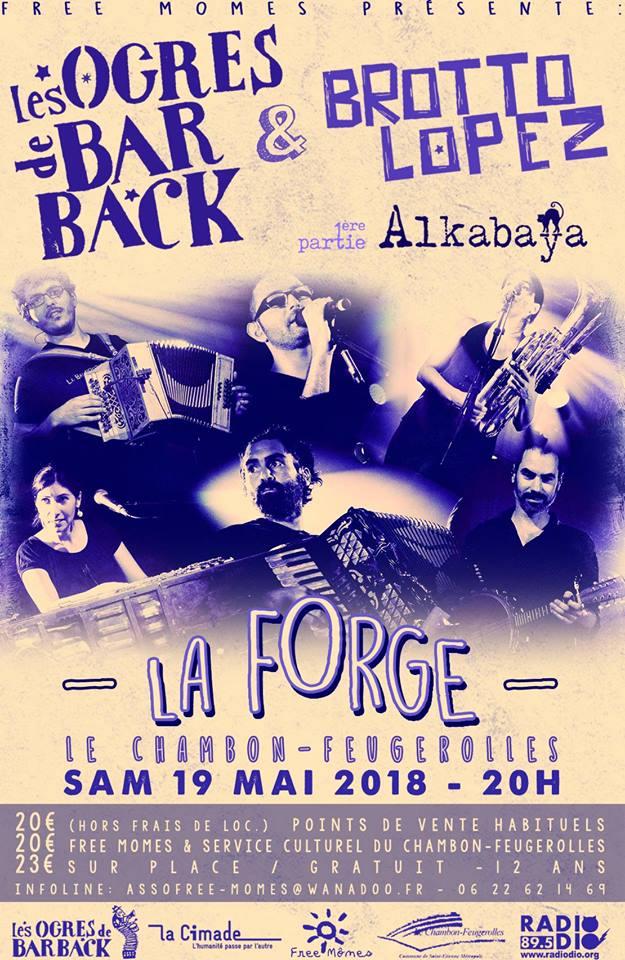 Concert avec Les Ogres de Barback et Brotto Lopez
