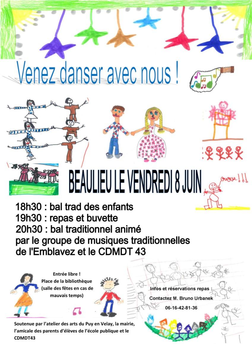 Soirée à Beaulieu – 8 Juin à partir de 18h30