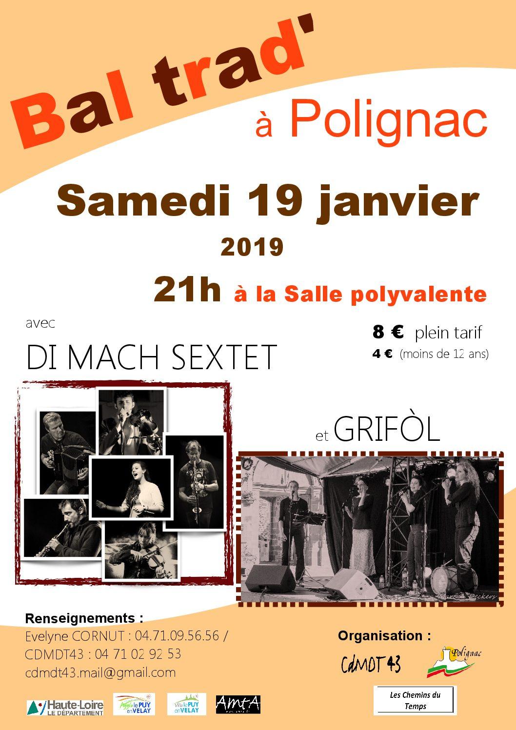 Bal trad' avec Di Mach Sextet & Grifol +stage (Polignac)