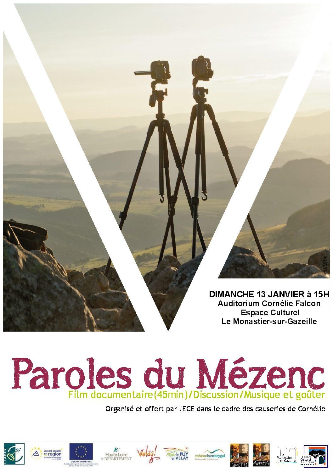 """Projection du film """"Paroles du Mézenc"""" au Monastier-sur-Gazeille"""