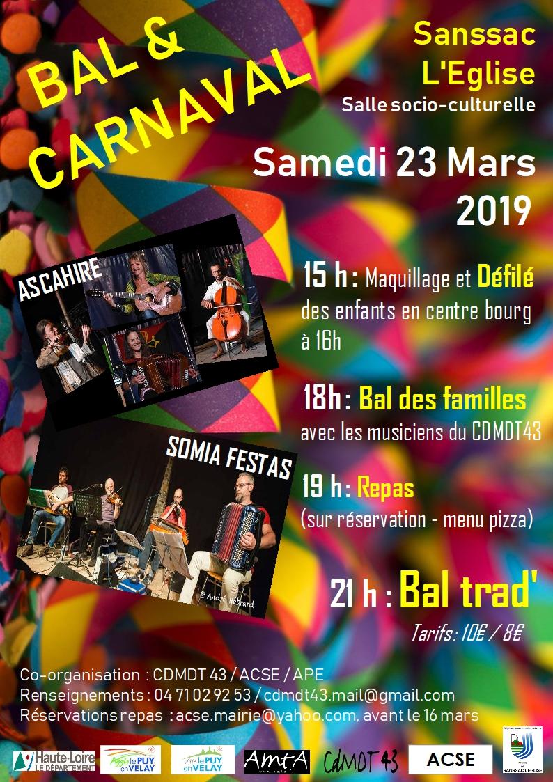 Bal trad' & carnaval (Sanssac L'Eglise)