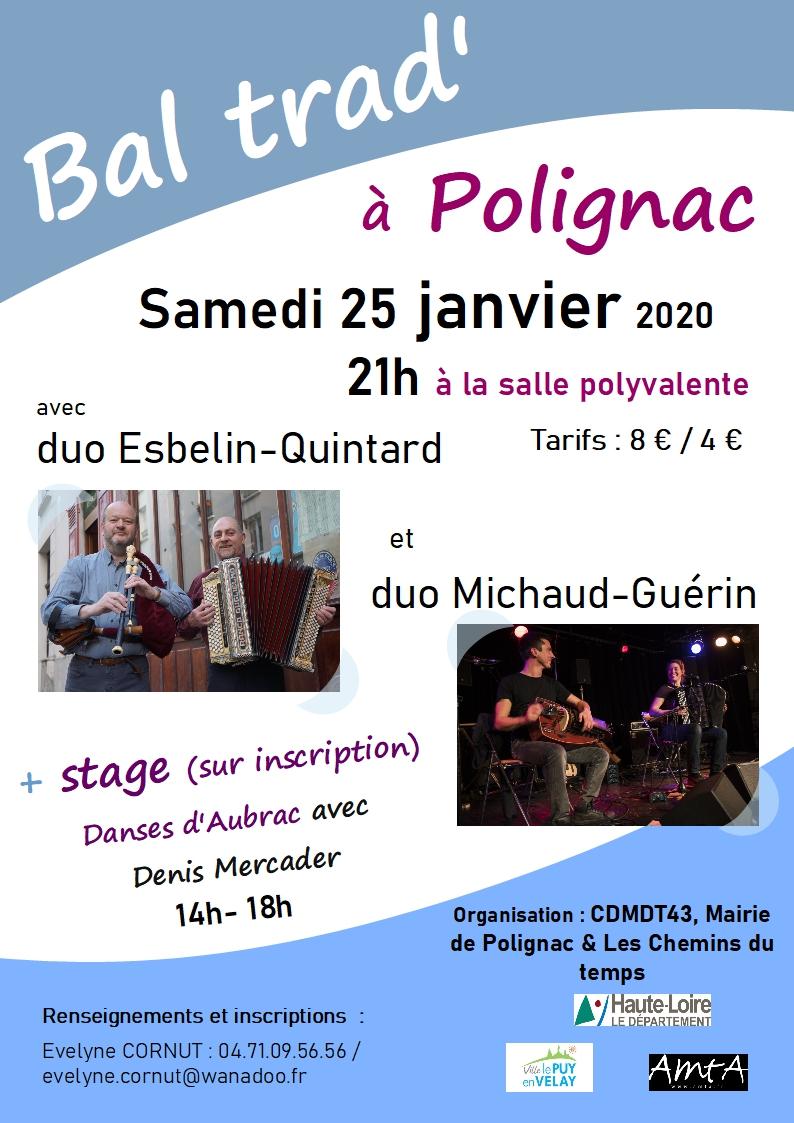 Stage de danse & bal trad' à Polignac en Janvier